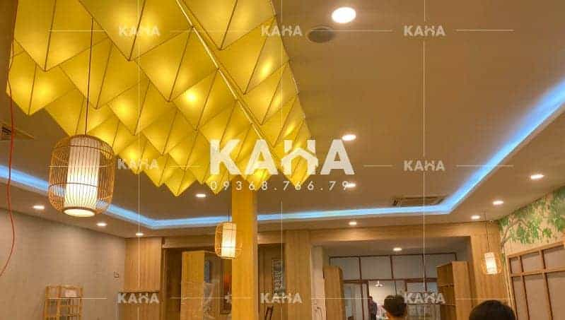 Đèn vải KAHA | Đèn trang trí quán chay